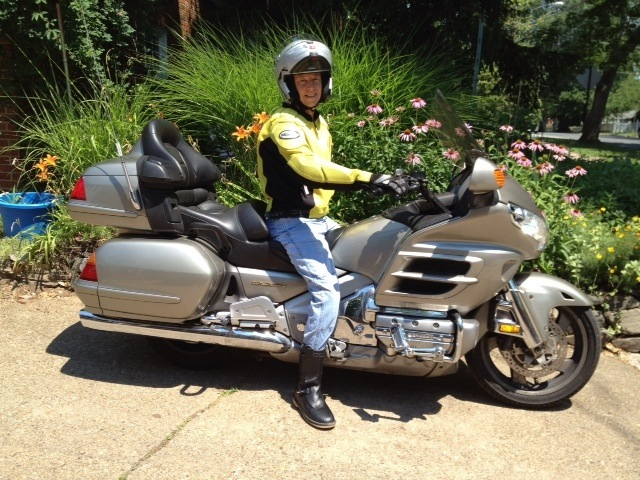 Brian on his goldwing motorcycle brian t yates ph d